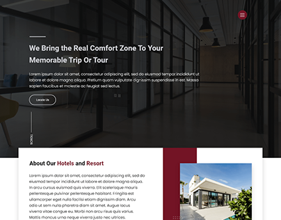 Hotel and accommodation Website Design