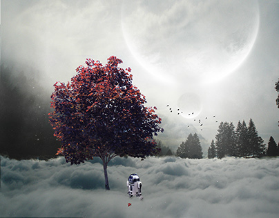 Edited On an iPhone / My imaginary World With R2D2