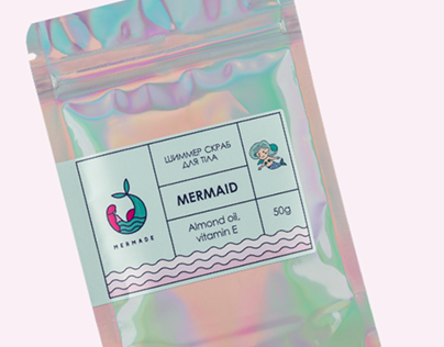 Label Illustrations for cosmetic brand Mermade
