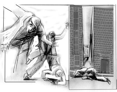 Schadenfreude - storyboard for shortfilm