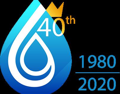 Logo anniversario 40 anni per Sidea King's Water
