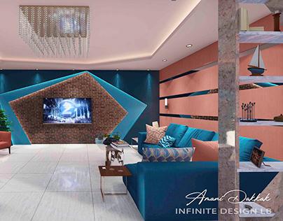 Modern Living Room & Dining Room Interior Design