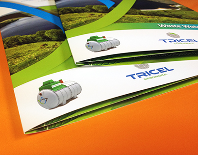 6 page laminated brochure for Bluestream