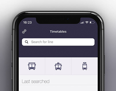 Public transport icons set for Jakdojade App