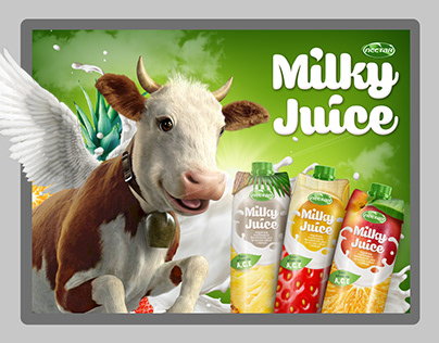 Milky Juice brand launch, collateral design
