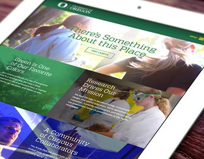 University of Oregon: Website Design