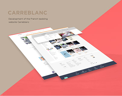 Development of the French bedding website Carreblanc