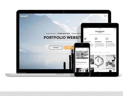 Galaxy - a gorgeous template for portfolio