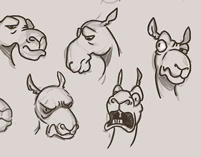 Camel character design