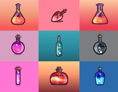 Bottles icons
