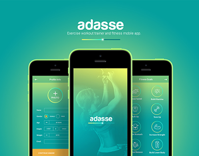 Adasse: Gym workout mobile app design