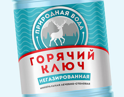 Mineral water logo and label design