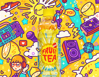 Fruit Tea Ads - Illustration