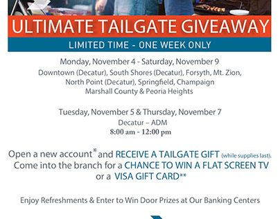 Hickory Point Bank - 2018/2019 Ultimate Tailgate Events