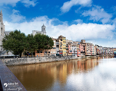 Onyar River. Girona - Catalonia