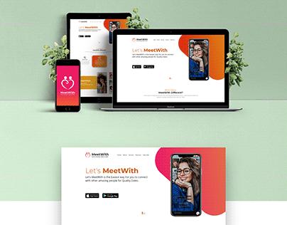 MeetWith App & Landing Page Design