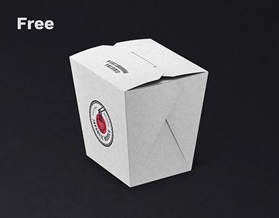 Free Noodles Box PSD Mockup Set