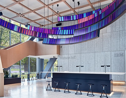 IBM Flux - data-driven art installation