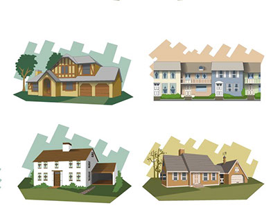Ilustraciones casas / Houses illustrations