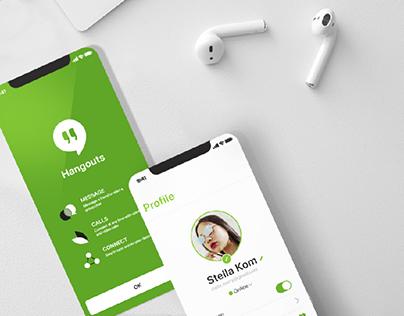 Google Hangouts App Redesign