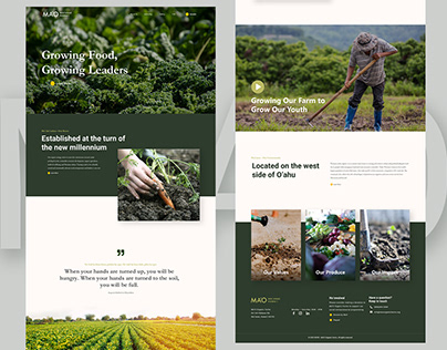 Mao Farm Homepage Web Design