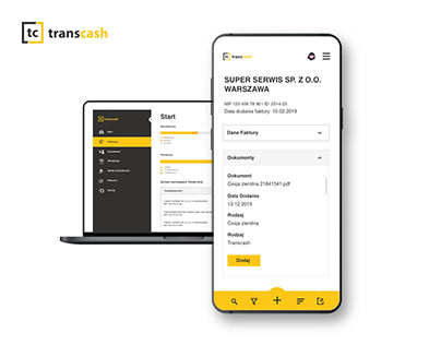 Transcash: Re-design of the customer panel