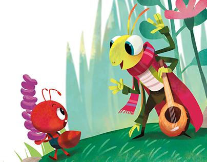 Ant and Grasshopper Children Book