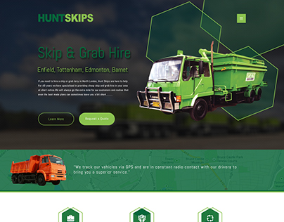 HuntSkips Website Design