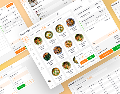 Restaurant Table Booking POS System | UI/UX Design