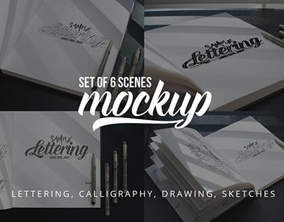Lettering & Drawing Mockup Set