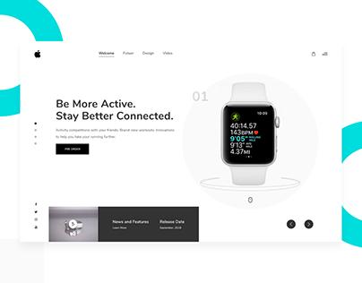 Apple WatchOS 5 - Minimal Web Concept - Freebie