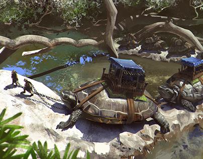 A turtle caravan