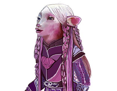 Brea illustration from the series Dark Crystal