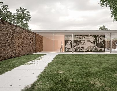 Re-construction Casa tres patios Mies Van der Rohe