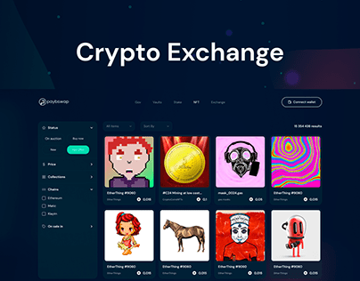 Crypto-Exchange Wallet   Web app UI/UX