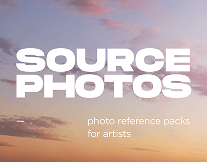 SOURCE PHOTOS — reference packs for artists