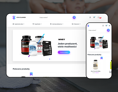 Gym Planner — Fitness Suplement Online Store