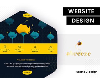 Abreez - eCommerce website UI/UX design by BrandzGarage