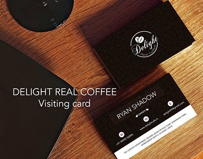 Visiting card for Delight Real Cafe