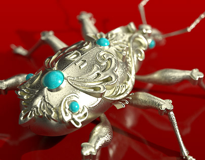 Art-deco insect jewelry