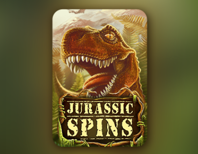 Gambino Slot. Jurassic Spin. Icons animation.