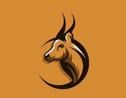 Antelope head logo