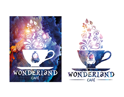 Logotipo wonderland café
