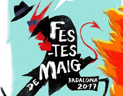 Cartel Festes de Maig Badalona 2017