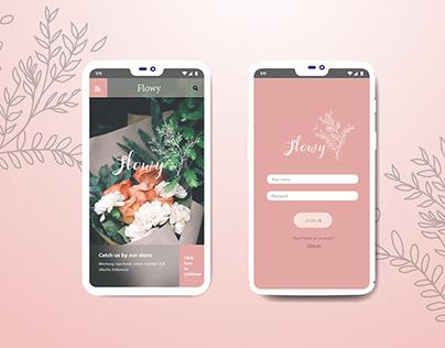 UI/UX flowy flower shop