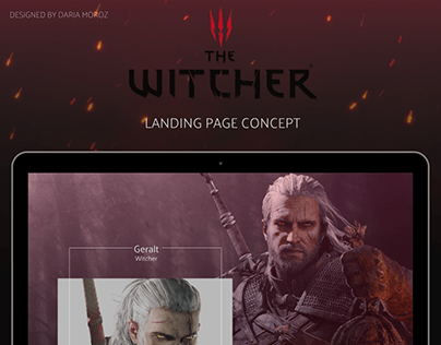 THE WITCHER - Landing Page Concept Design