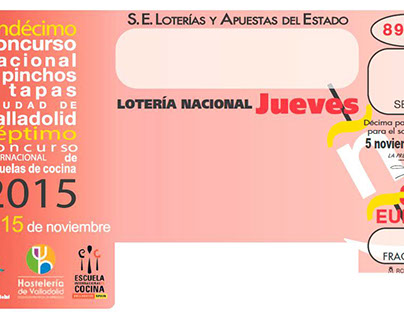 Diseño del décimo de la Lotería Nacional 2015