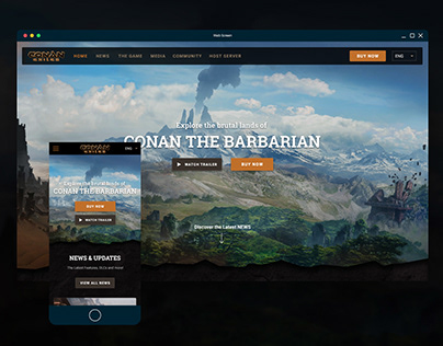 Conan Exiles Site Revamp Attempt