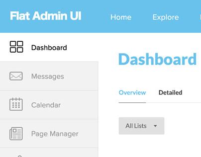 Admin Dashboard UI