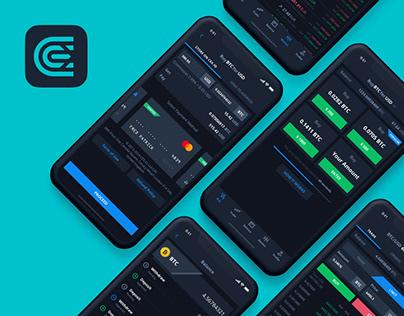 Mobile Application Design for Crypto Exchange CEX.IO